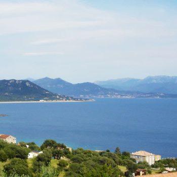 Golfe du Valinco depuis Porto-Pollo, au fond Propriano puis Sartène - Casa Favalella