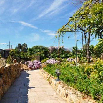 Fleurs, arbres fruitiers, le jardin de Casa Favalella
