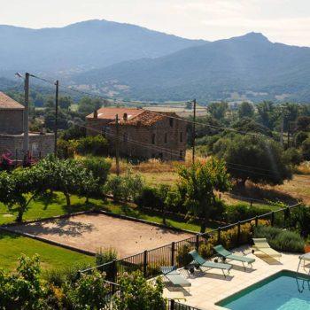 Casa Favalella à Serra di Ferro, vue générale