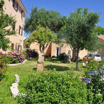 Location de vacances à Serra di Ferro avec des espaces verts, fleurs, arbres fruitiers - Casa Favalella